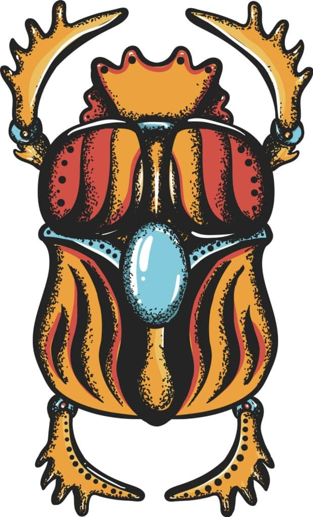 Ancient Symbol of Strength from Egypt, Scarab Beetle