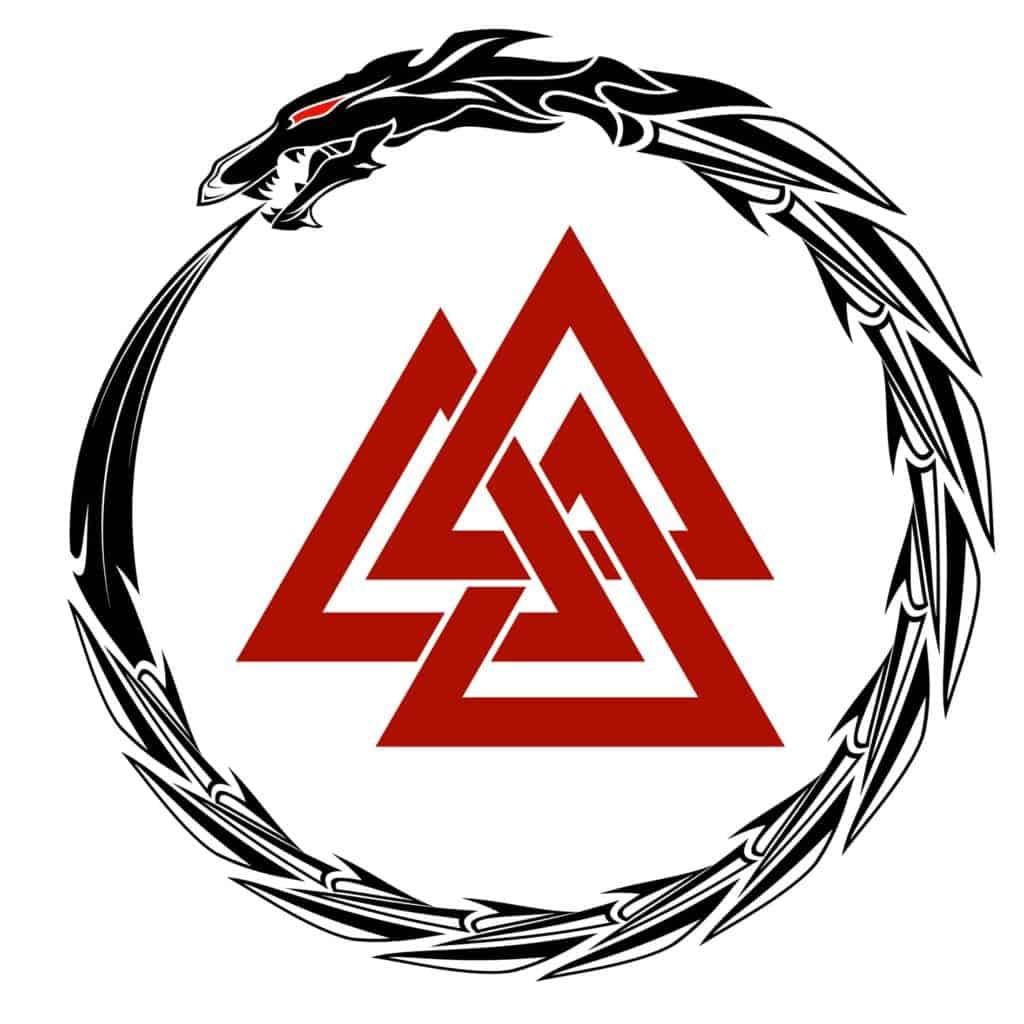 Valknut, Odin's Symbol and the Serpent