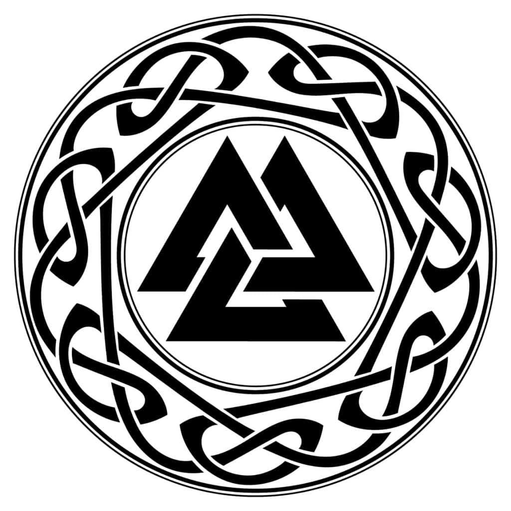 Valknut the Symbol of Odin, Viking Symbol
