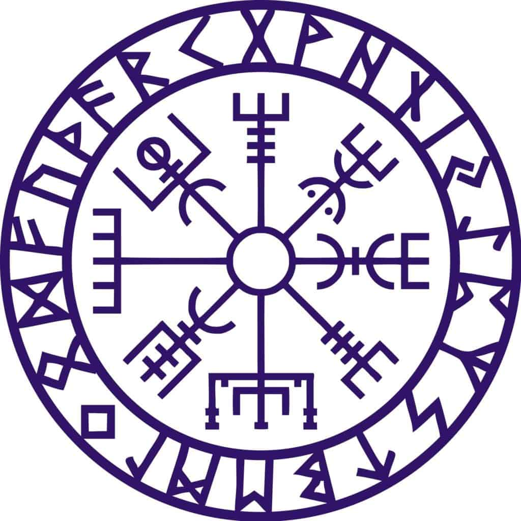 Vegvisir Meaning Explained, the Runic Norse Compass In Viking Style