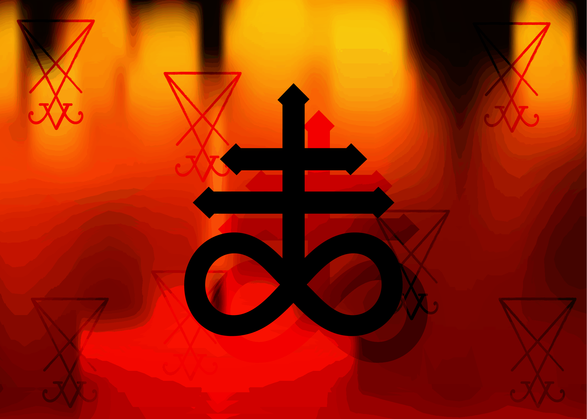 Leviathan Cross As Part of Satanic Symbols Collection