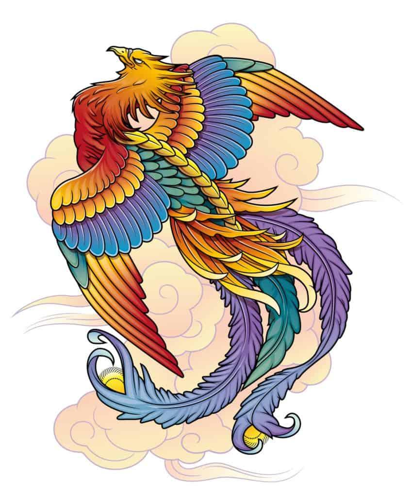 Phoenix Illustration, Ancient Symbols List