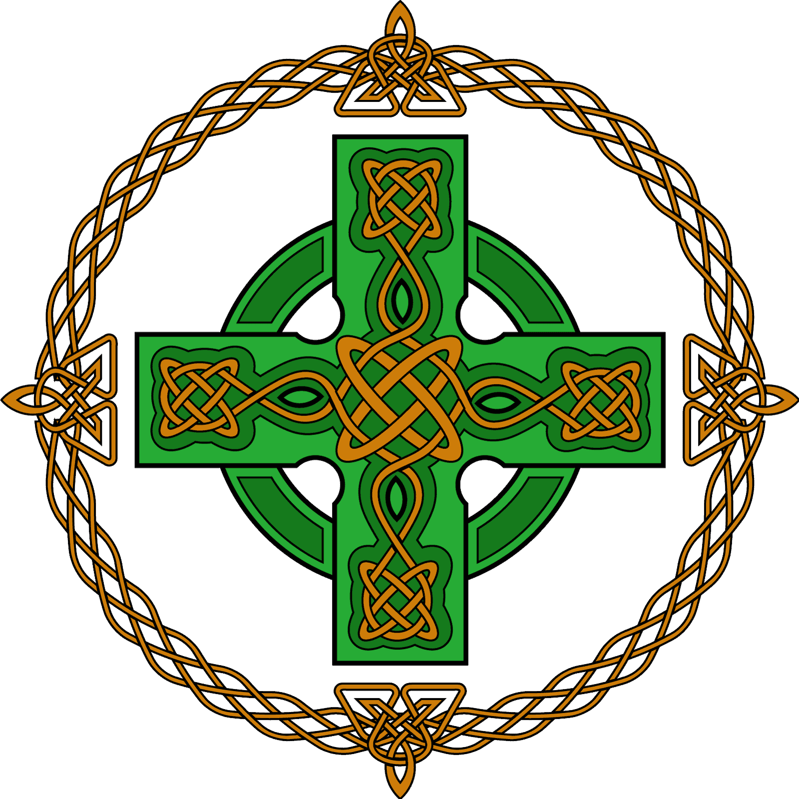 Celtic Cross Symbol made with Celtic knots, Celtic Symbols and Their Meanings Explained