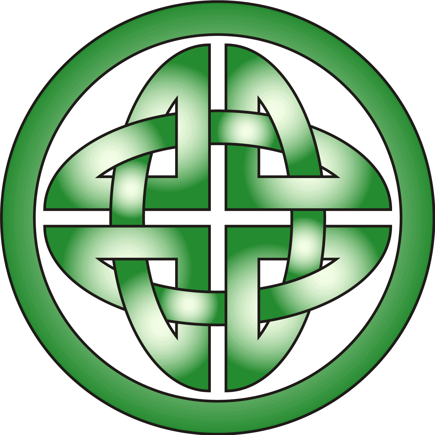 Celtic Shield Knot in Green and Grey