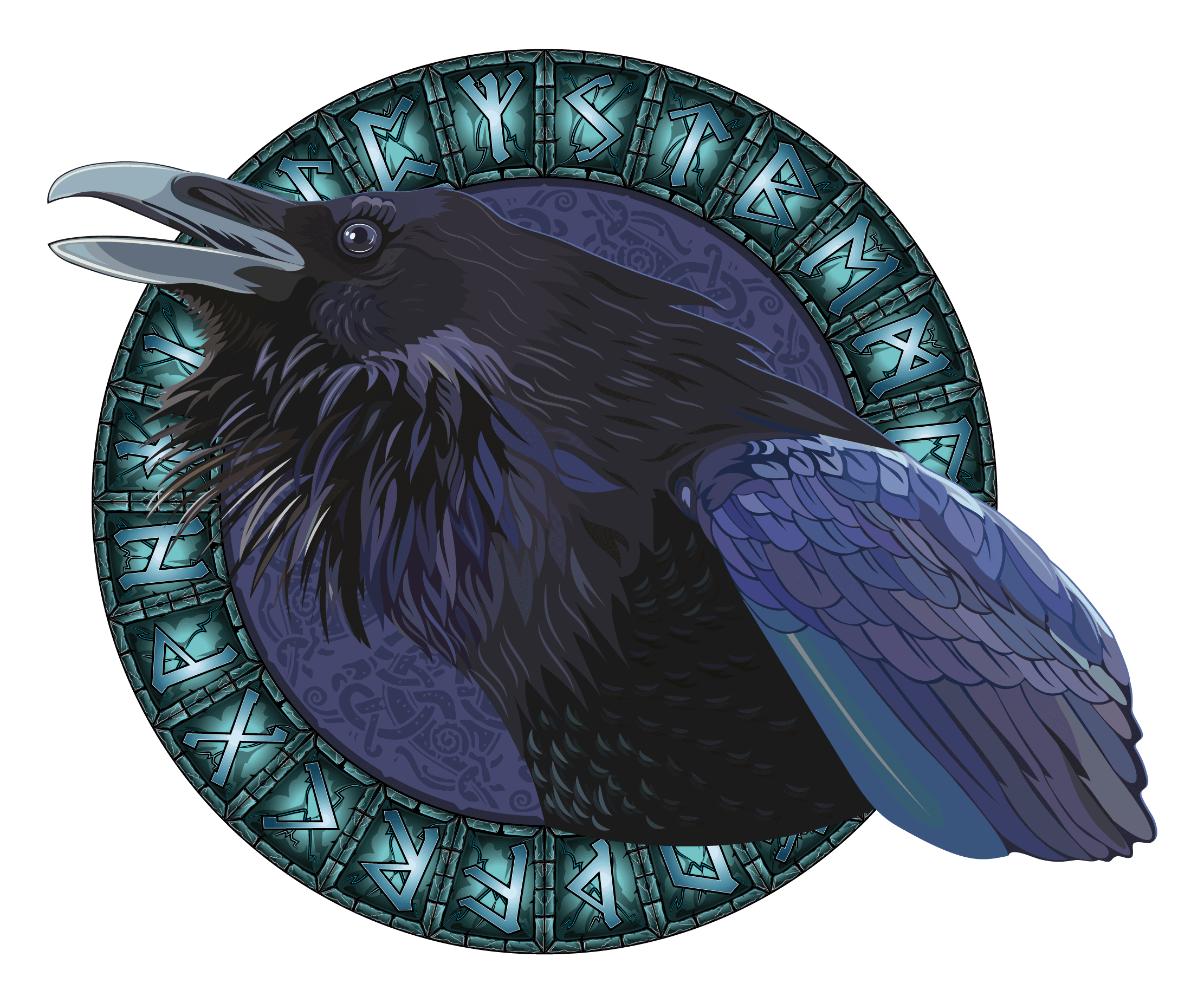 Ravens As An Odin Symbol and a Runic Circle, the List of Odin Symbols