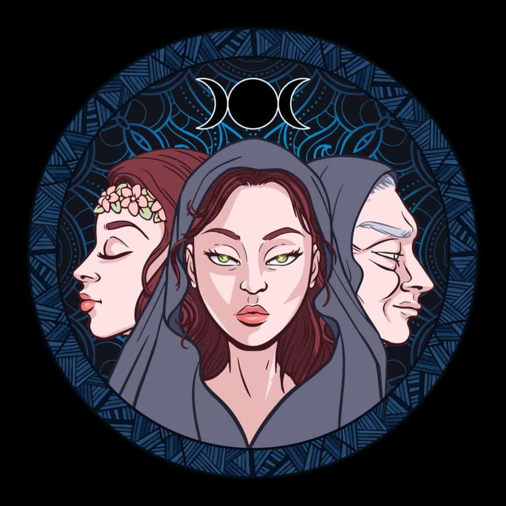 Triple Goddess Symbol , Female Symbols Around the World
