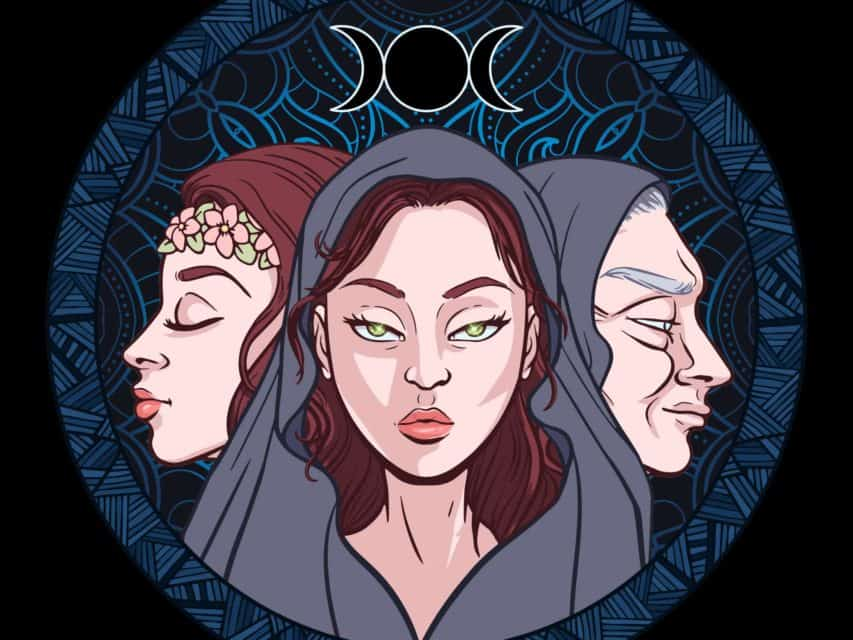 Triple Moon Symbol/Triple Goddess Symbol Meaning And Origins Explained