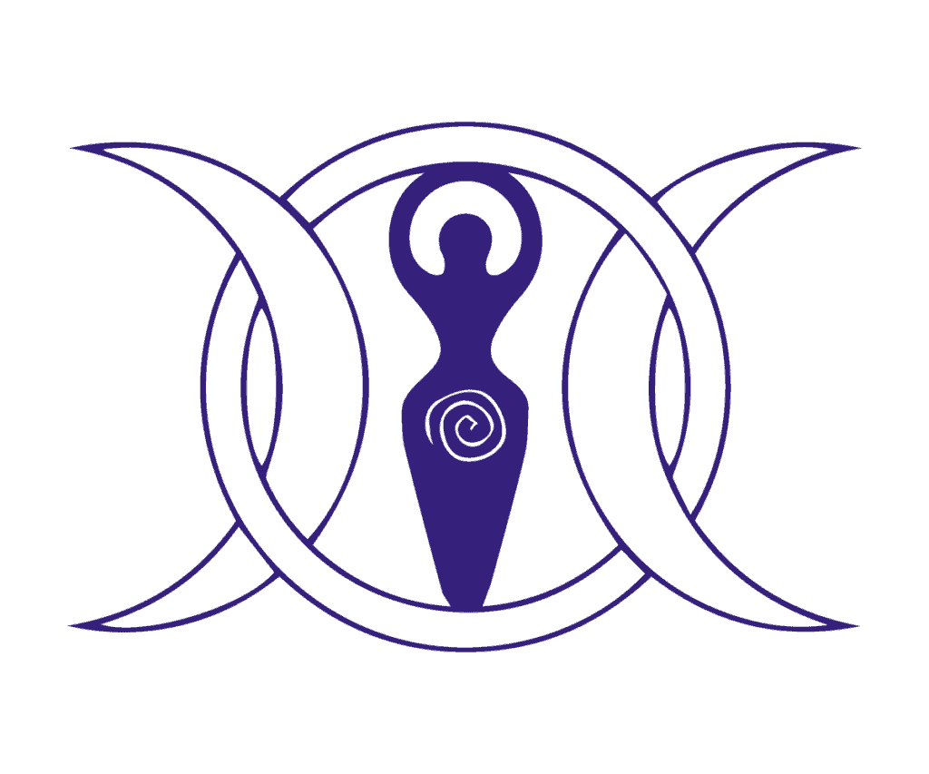 Triple Moon Goddess Meaning and Definition Explained, A Triple Moon Goddess Symbol in Purple with Two Crescent Moons