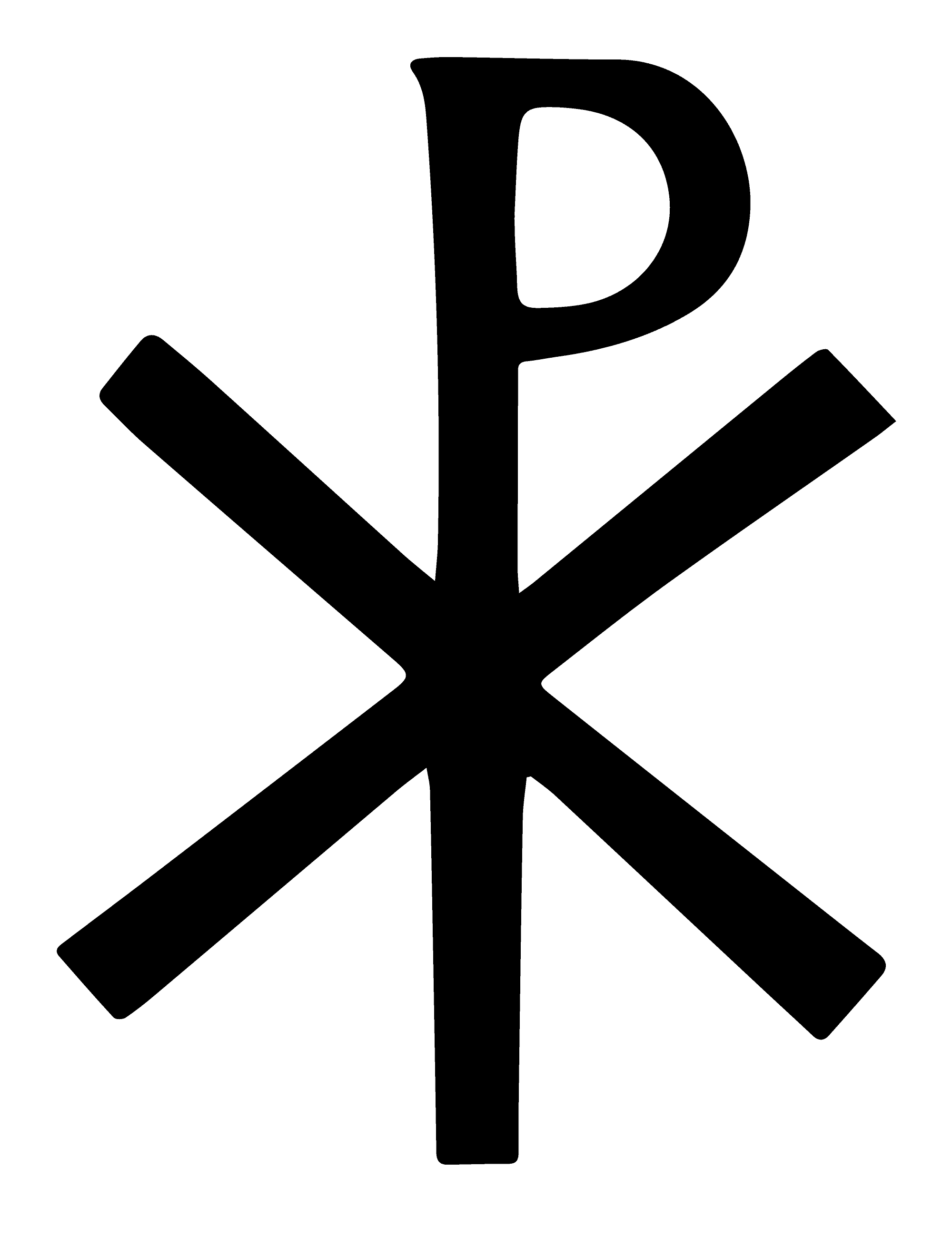 Chi-Rho Symbol Meaning and Origins, Catholic and Protestant Christogram in Black and White