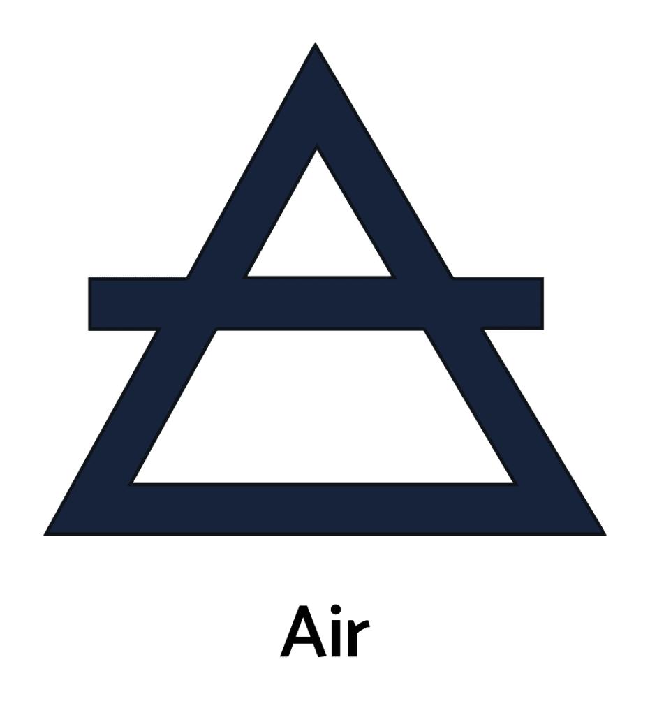 Elemental Air, Alchemy Symbol