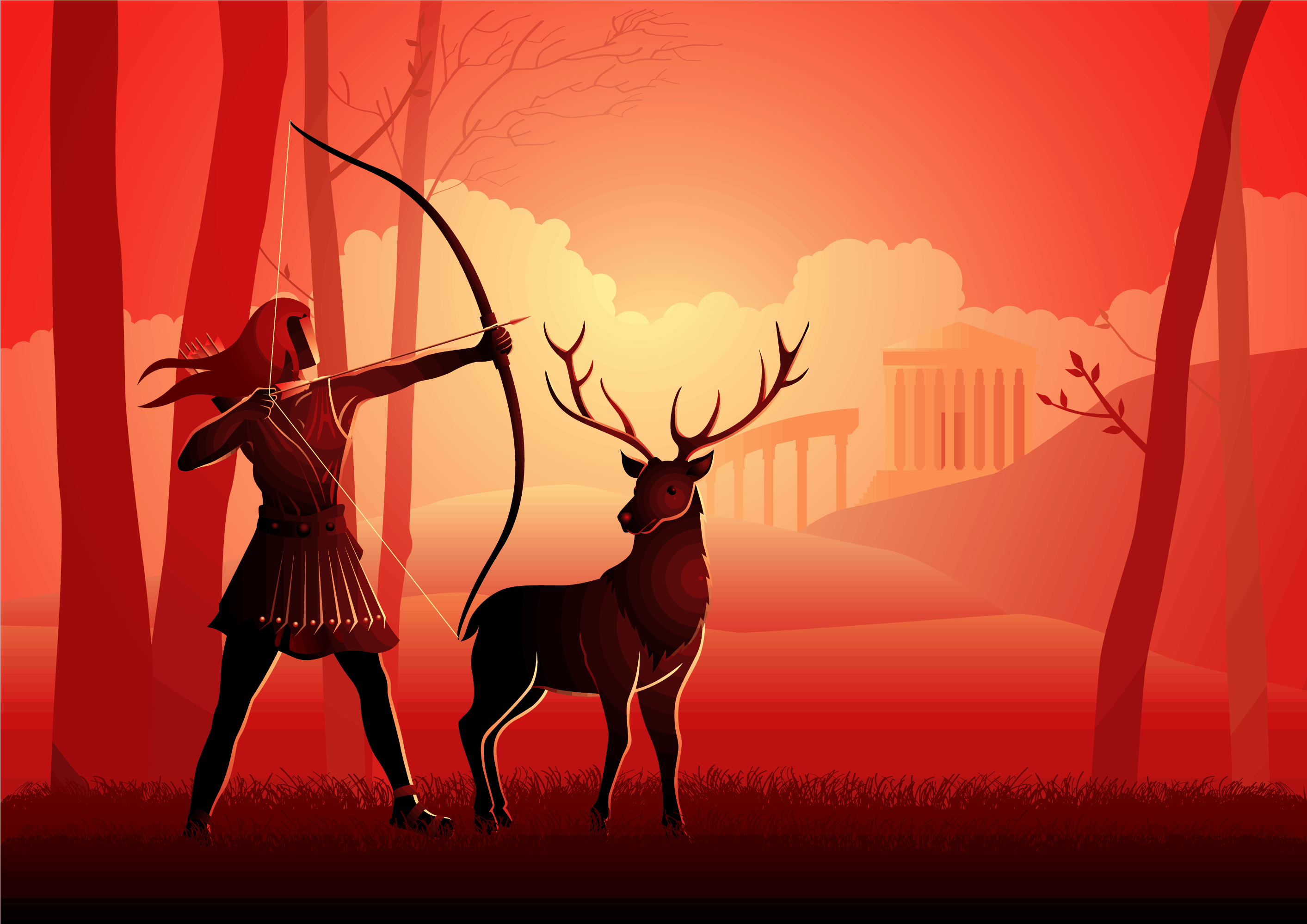 Artemis the Goddess of the Hunt and Wilderness in Greek Mythology, Her Symbols, Sacred Animals and Plants