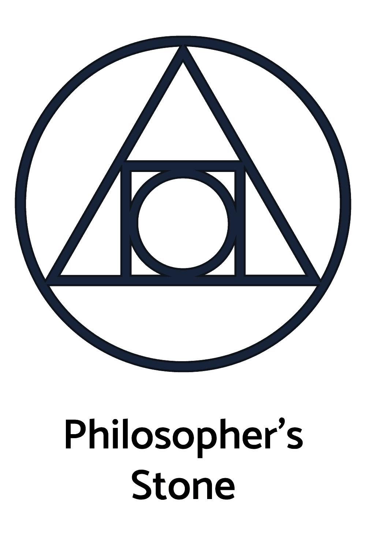 Philosopher's Stone, Alchemy Symbols, Elemental Symbols Used in the Discipline