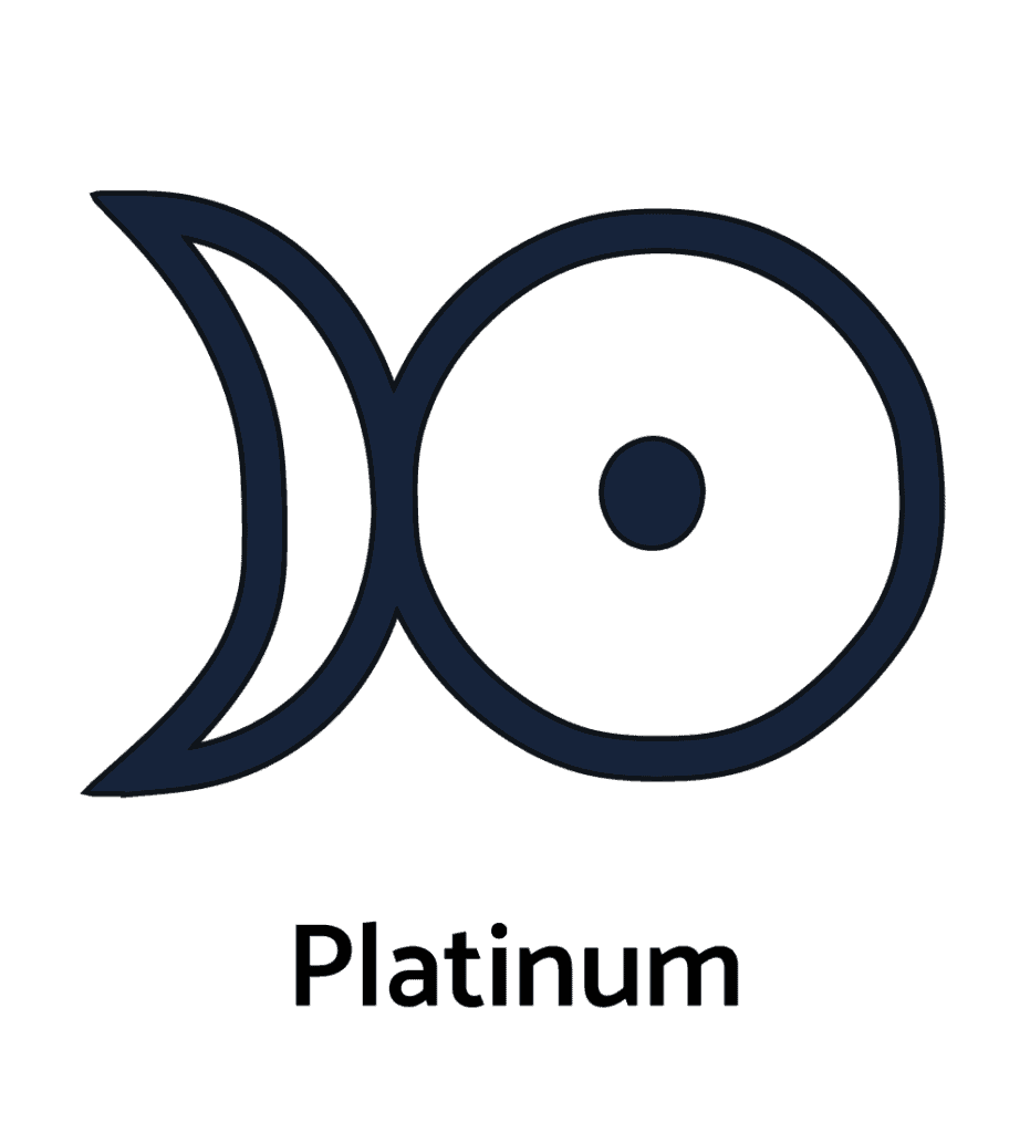 The Symbol for Platinum in Alchemy, the Combination of Silver and Gold Symbols
