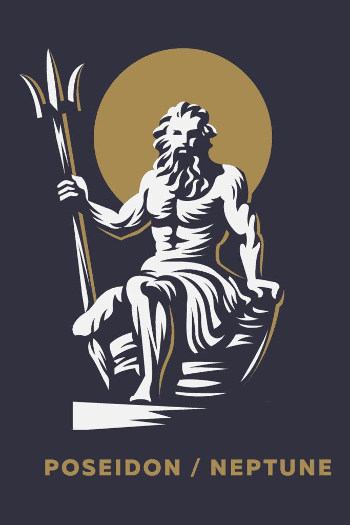 Poseidon Symbols, Sacred Animals and Plants the Greek God of Seas, Eaarthquakes And Horses