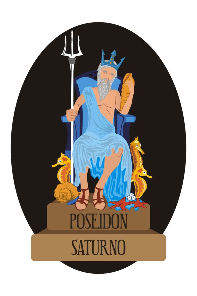 Poseidon the Greek God Holding His Trident, His Main Symbol
