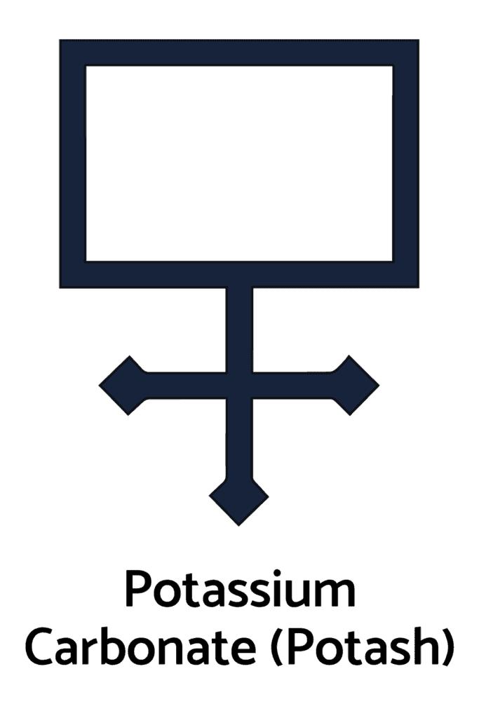 Potassium Carbonate, Potash As An Alchemy Symbol