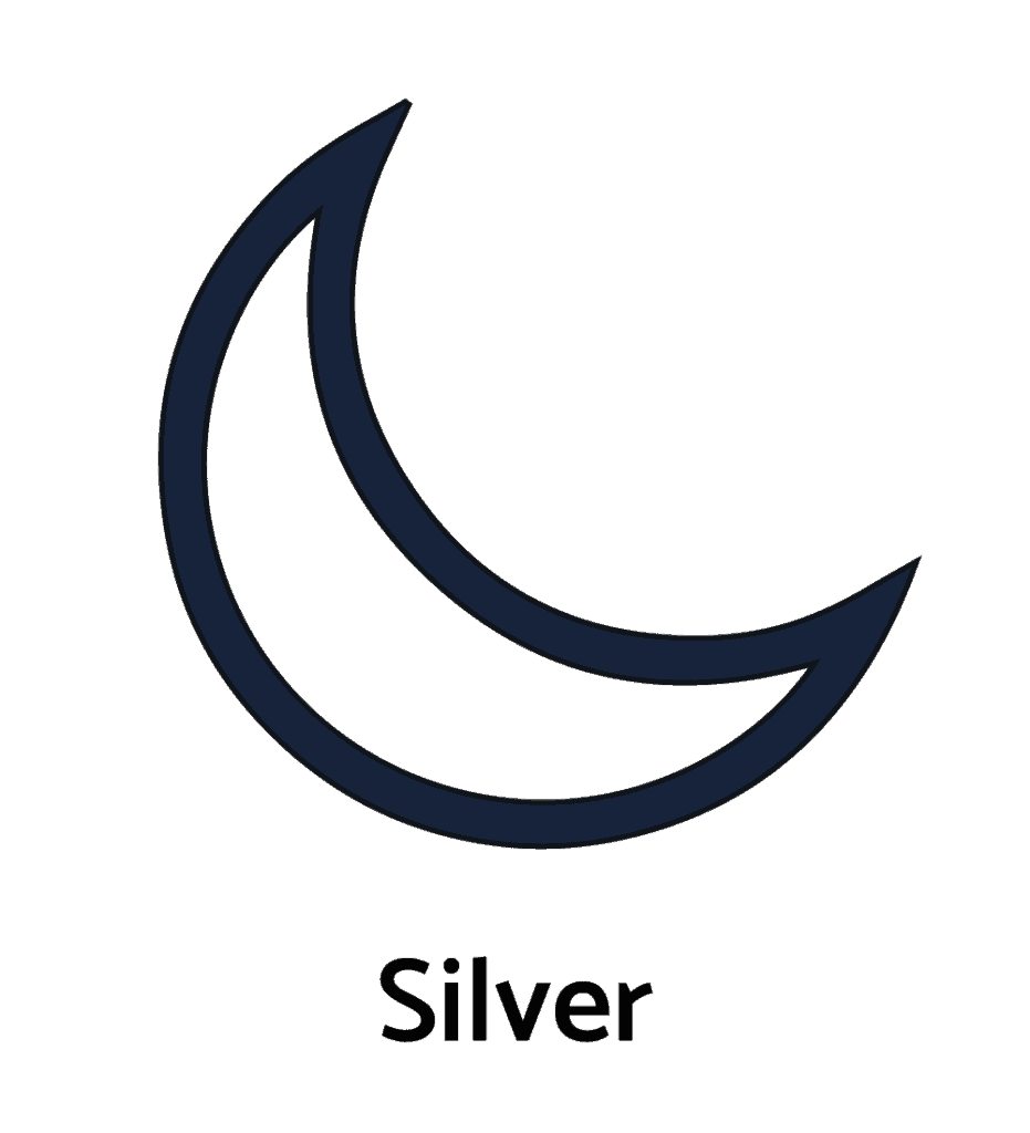 Silver and Moon Alchemical Symbol