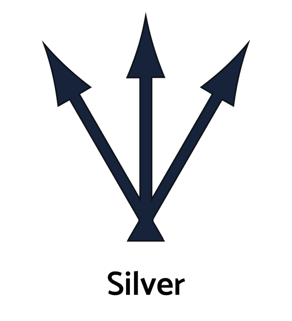 Silver Metal Alchemy Symbol