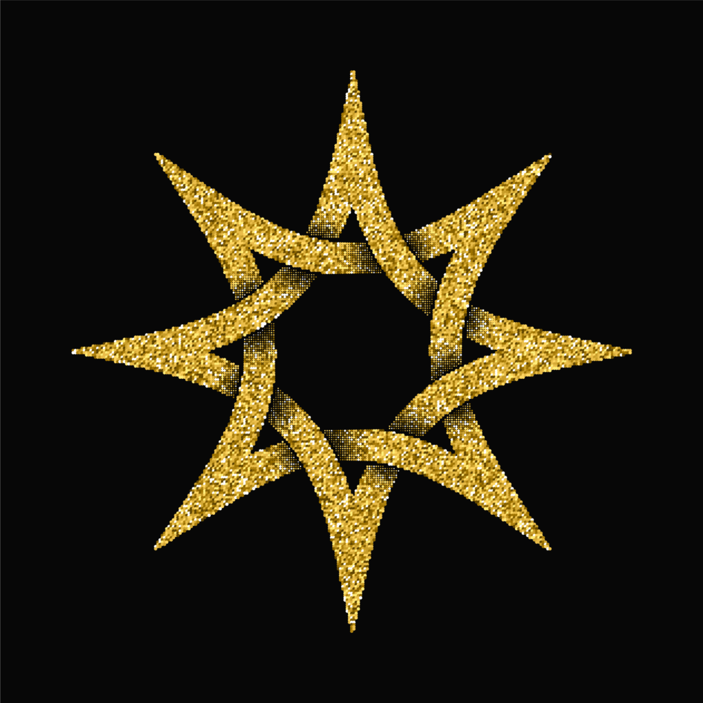 An Eight Point Star Also Known as Octagram Symbol