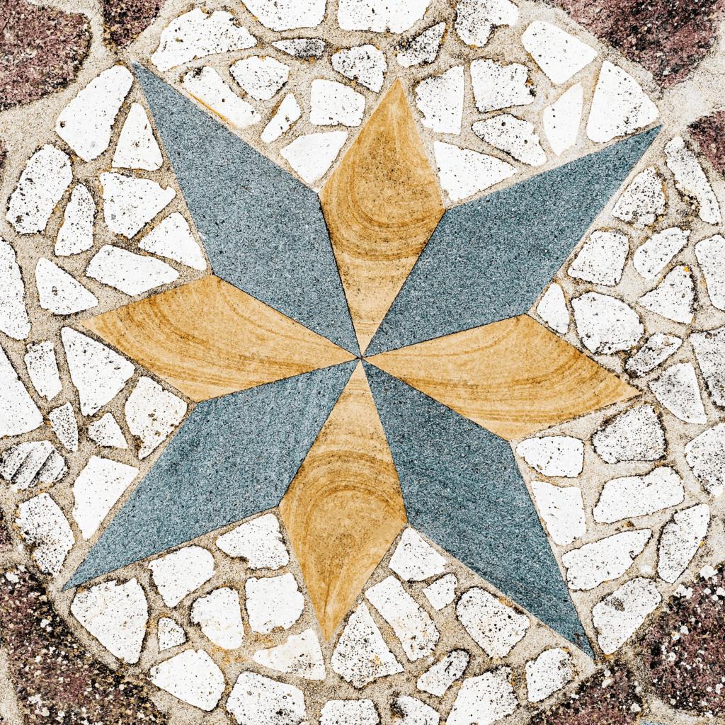 Octagram Eight Point Star on the Floor