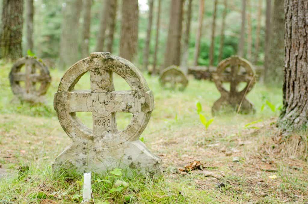 Sun Crosses As Gravestones in Estonia, Ancient Symbols Collection