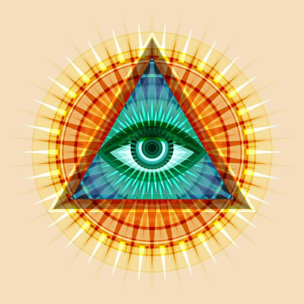 The All-seeing Eye of Providence As Part of Occult Symbols Collection