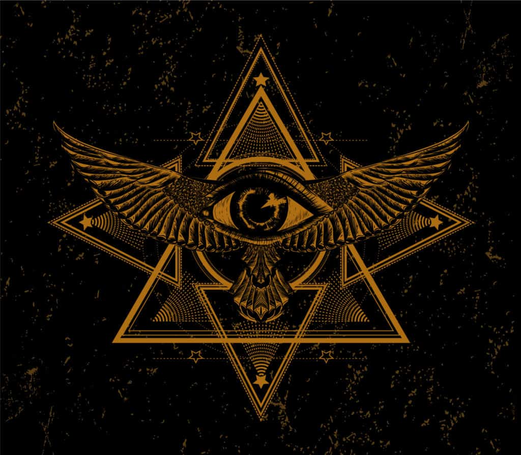 The Eye of Providence Masonic Symbol As Part of Occult Symbols Collection