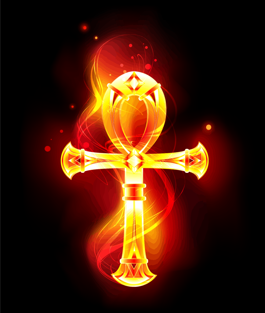 Ankh Meaning and Symbolism, The Egyptian Cross in a Fiery Design