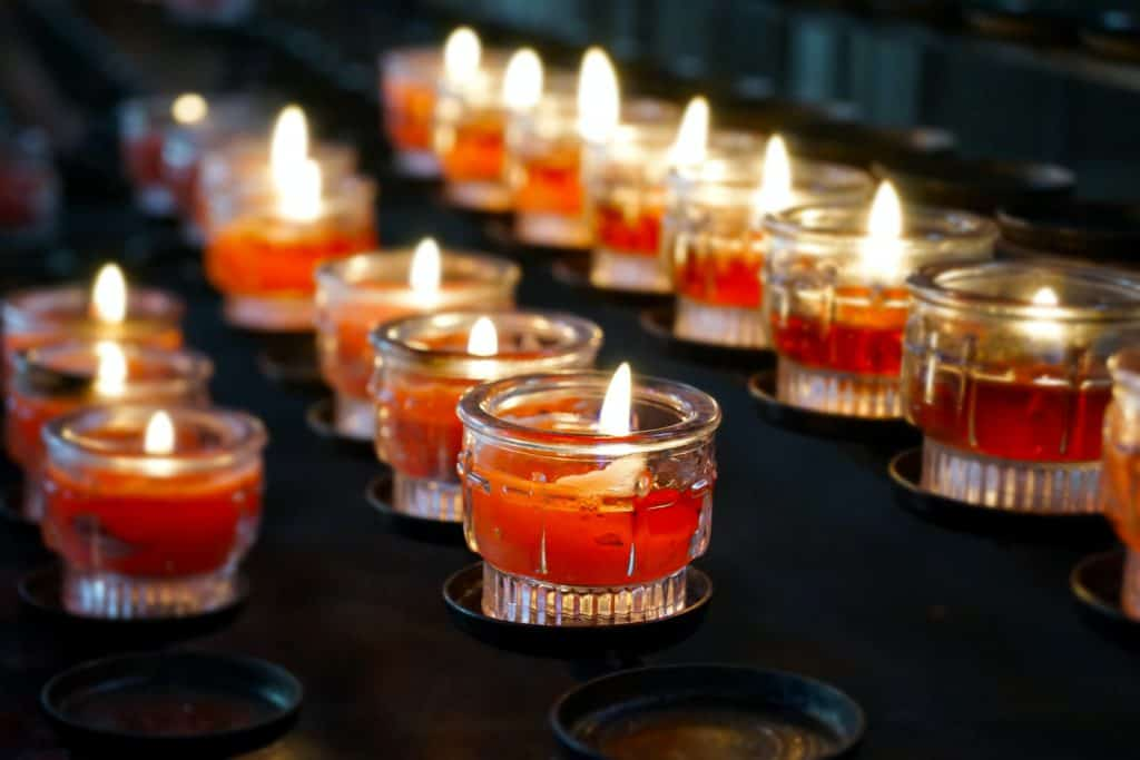 Candles Lit as Symbols of Death