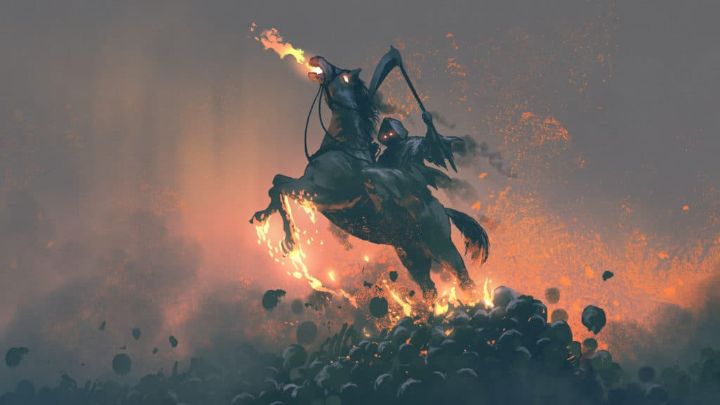 Death the Fourth and Final Horseman of Appocalypse as part of Symbols of Death