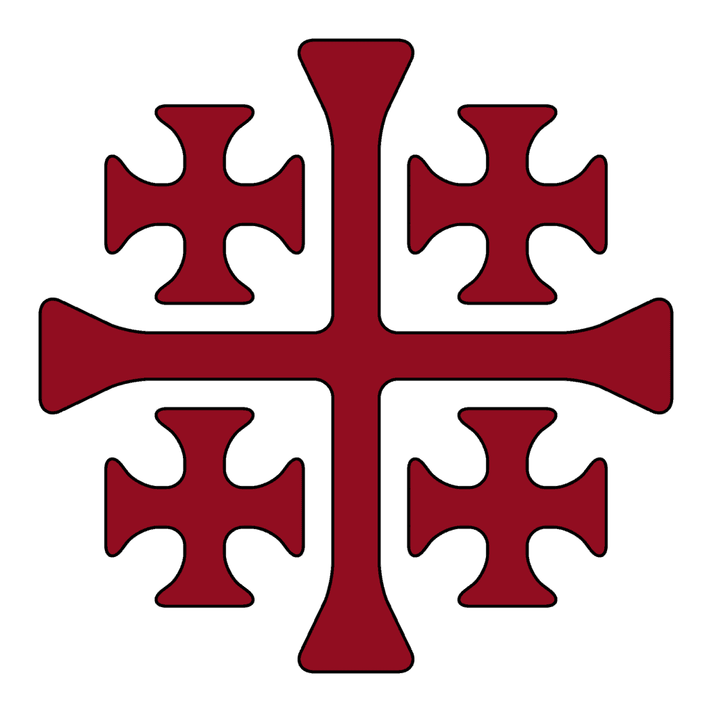 Crusader Cross AKA Jerusalem Cross in Red and Black, Meaning and Symbolism Explained
