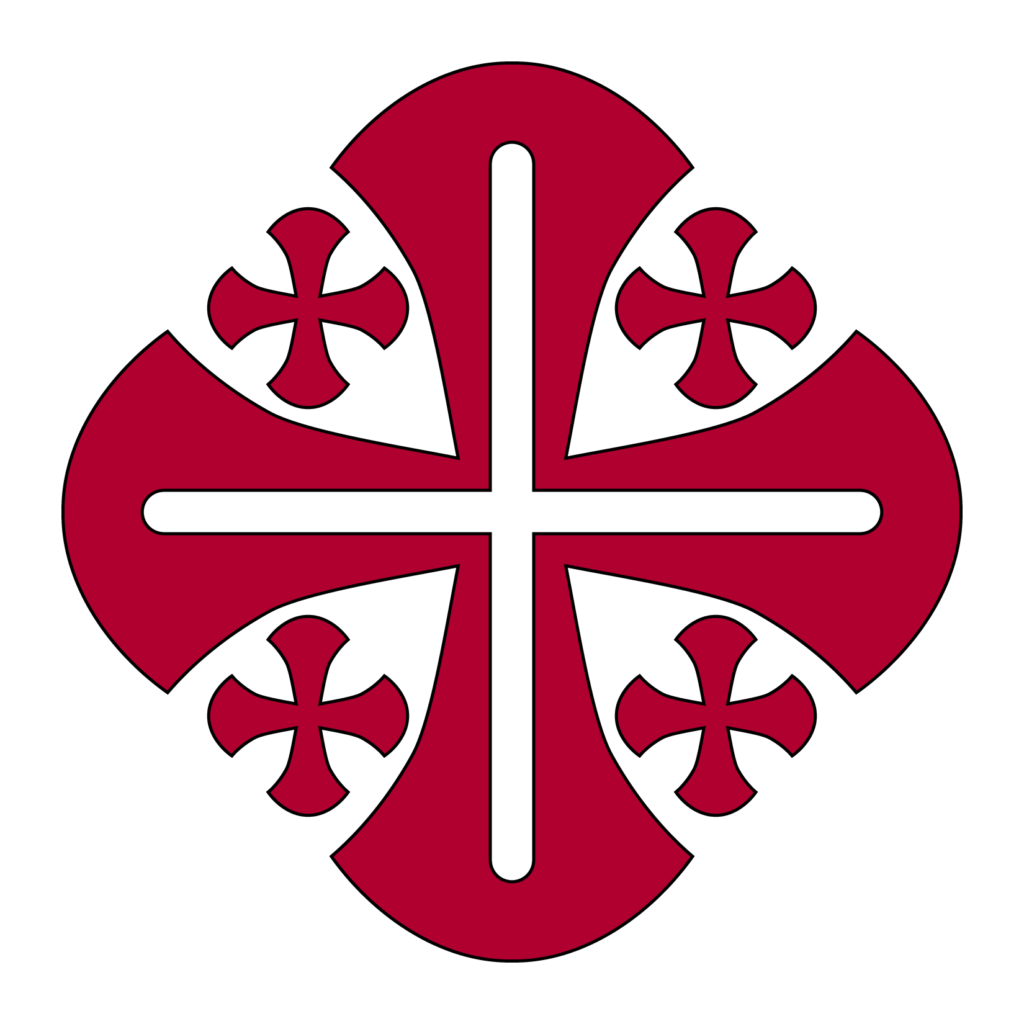 Cross of Jerusalem Meaning and Symbolism, The Symbol Depicted in Red and Black,