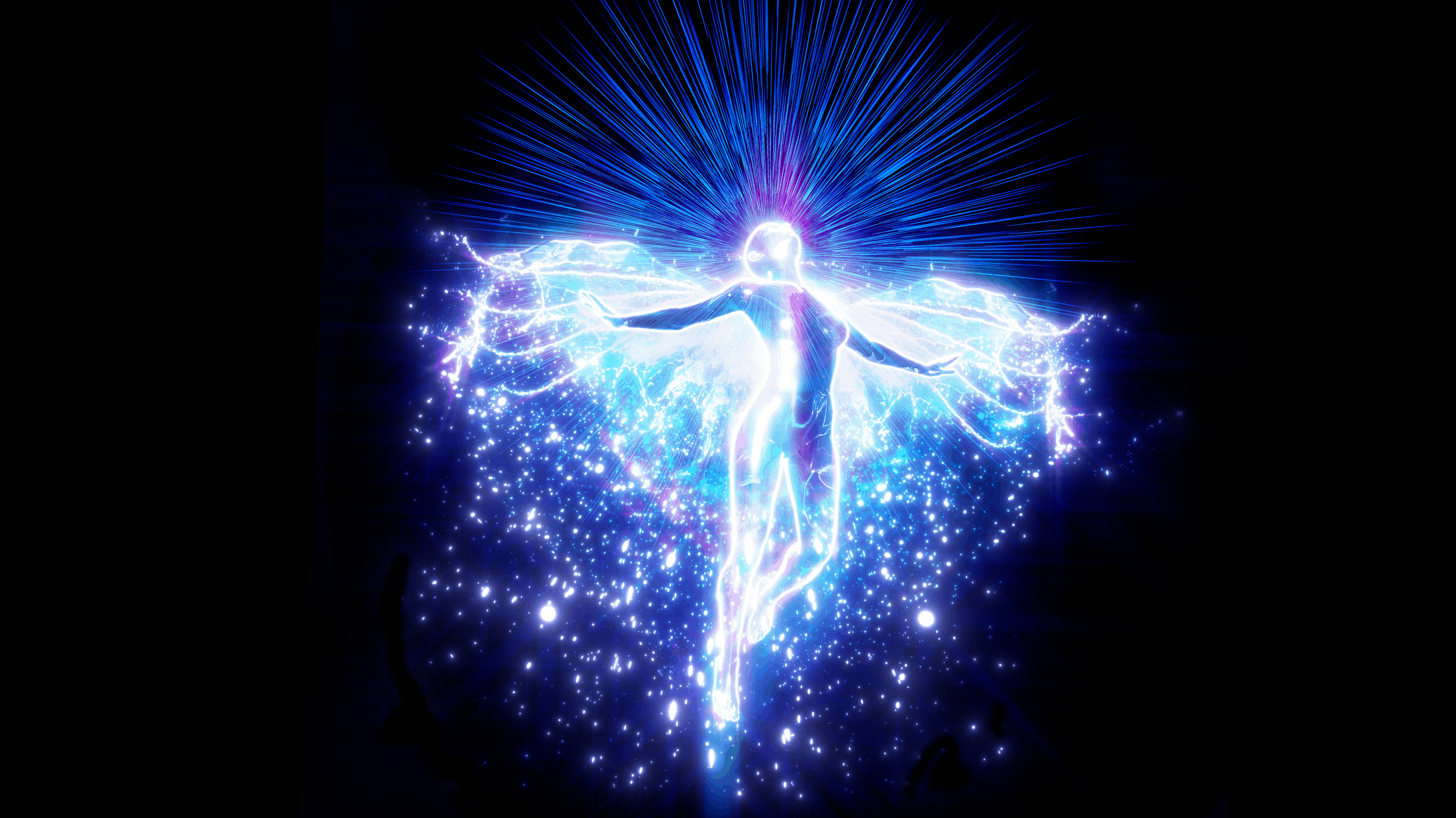 555 Angel Number Meaning and Symbolism Explained, An Angel Radiating with Light
