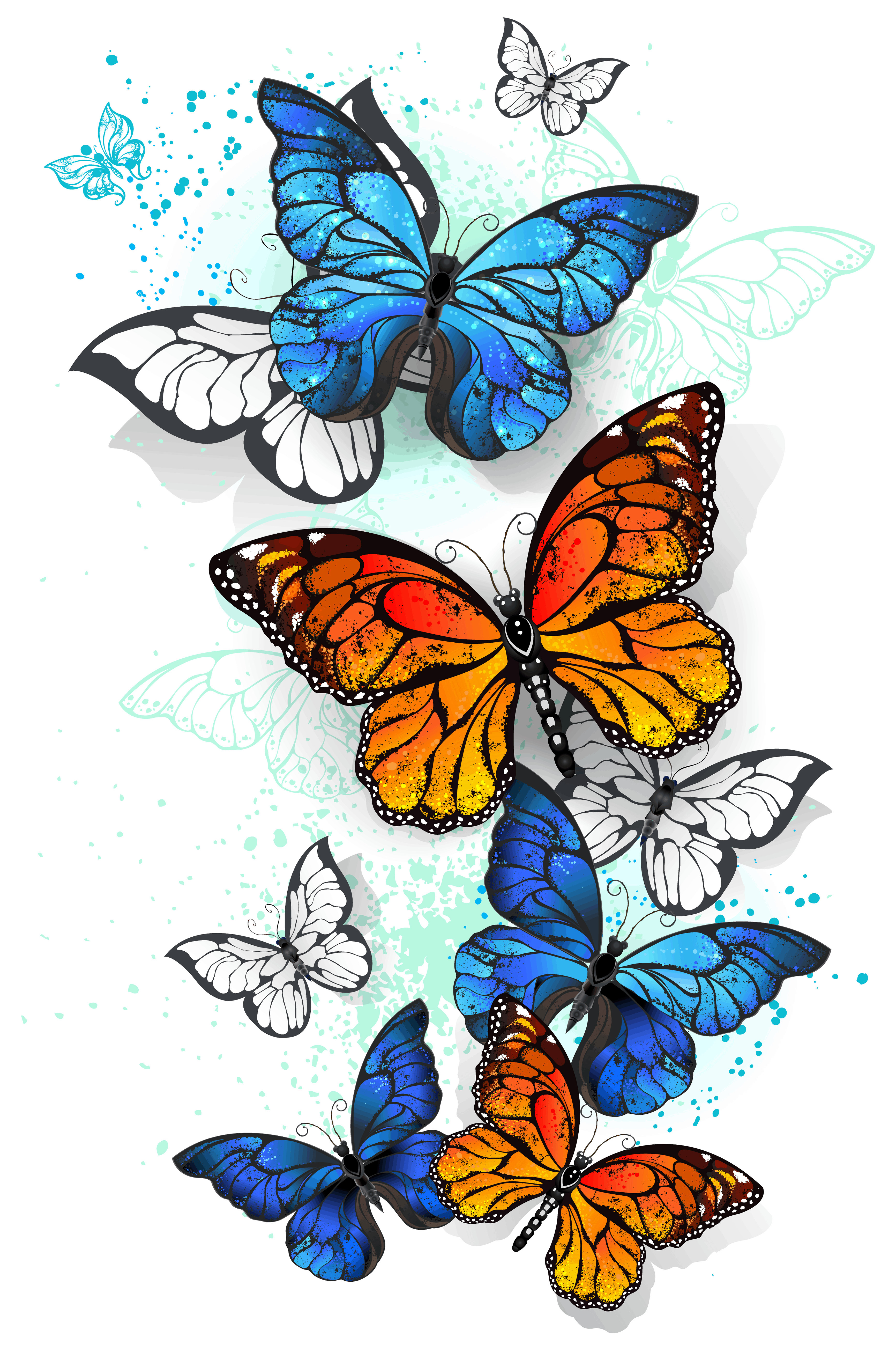 Butterfly Meaning and Symbolism Explained, Blue Morpho and Monarch Butterflies