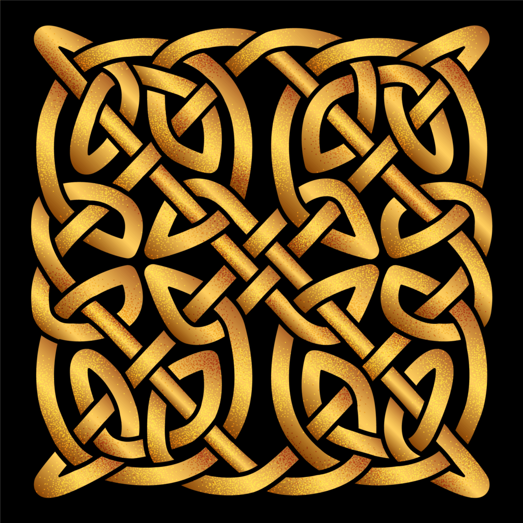 Celtic Shield Knot in Gold Color