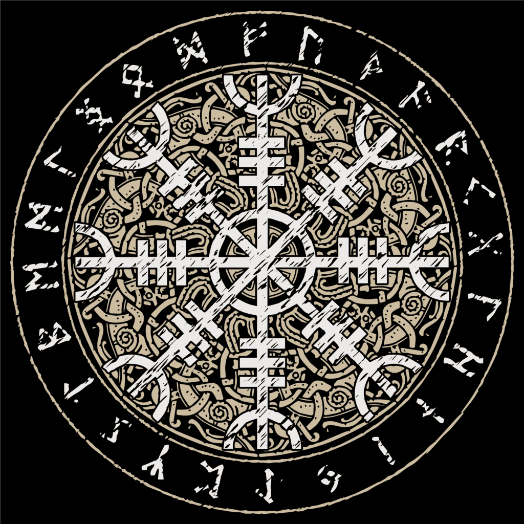 Helm of Awe Detailed Image Aegishjalmur