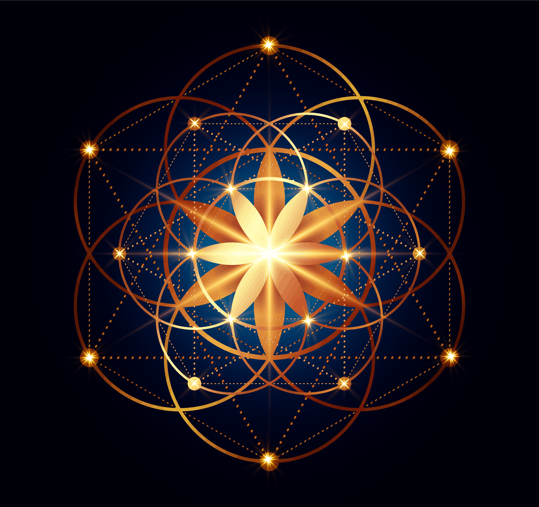Seed of Life, Sacred Geometry Symbols Collection