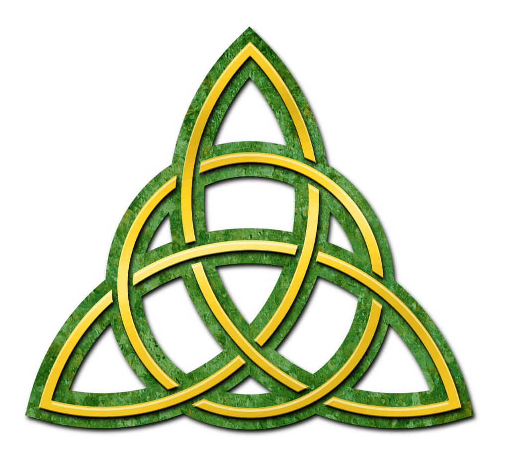 A Triquetra in Green and Yellow