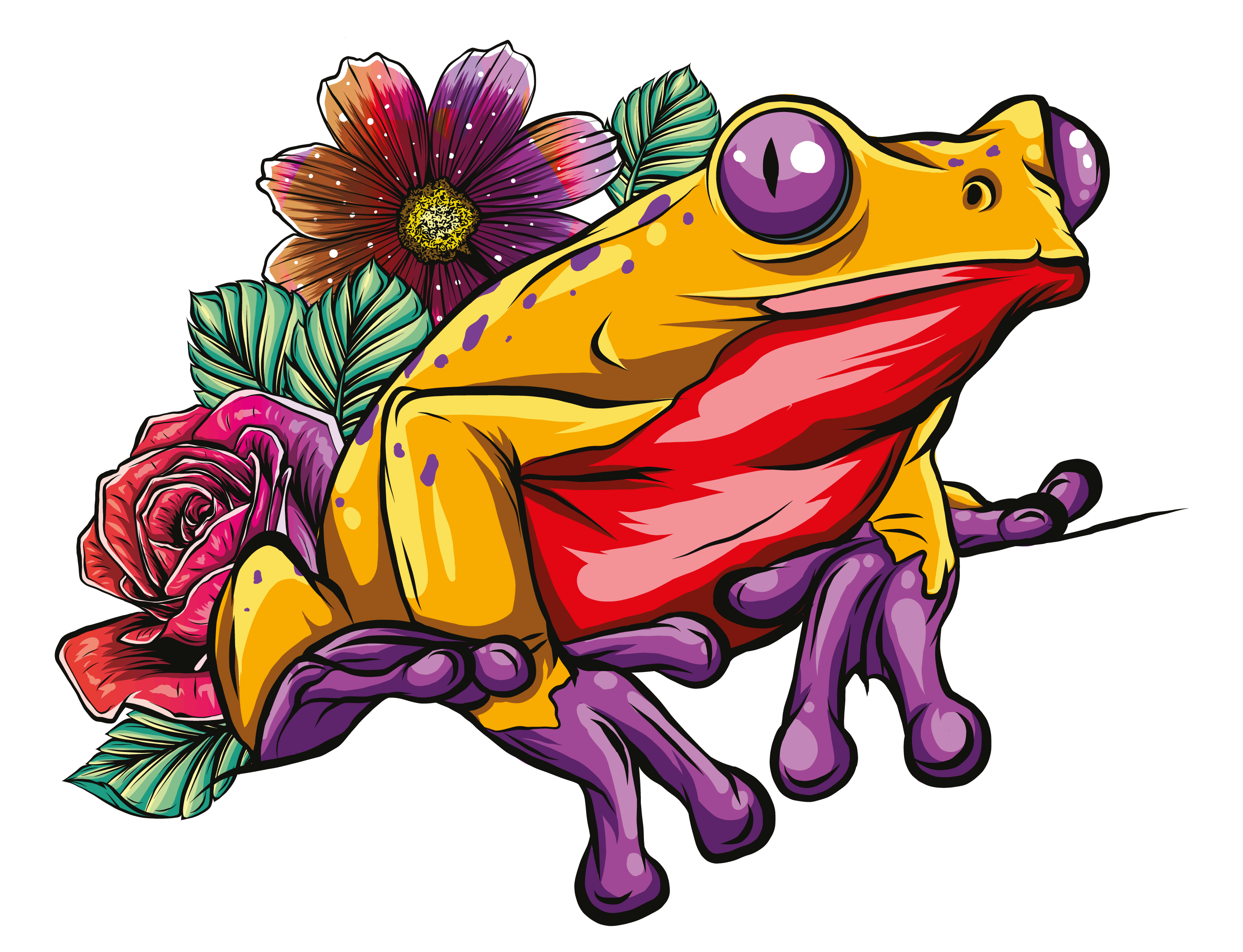 What Do Frogs Symbolize, the Explanation: A Yellow and Red Frog Picture