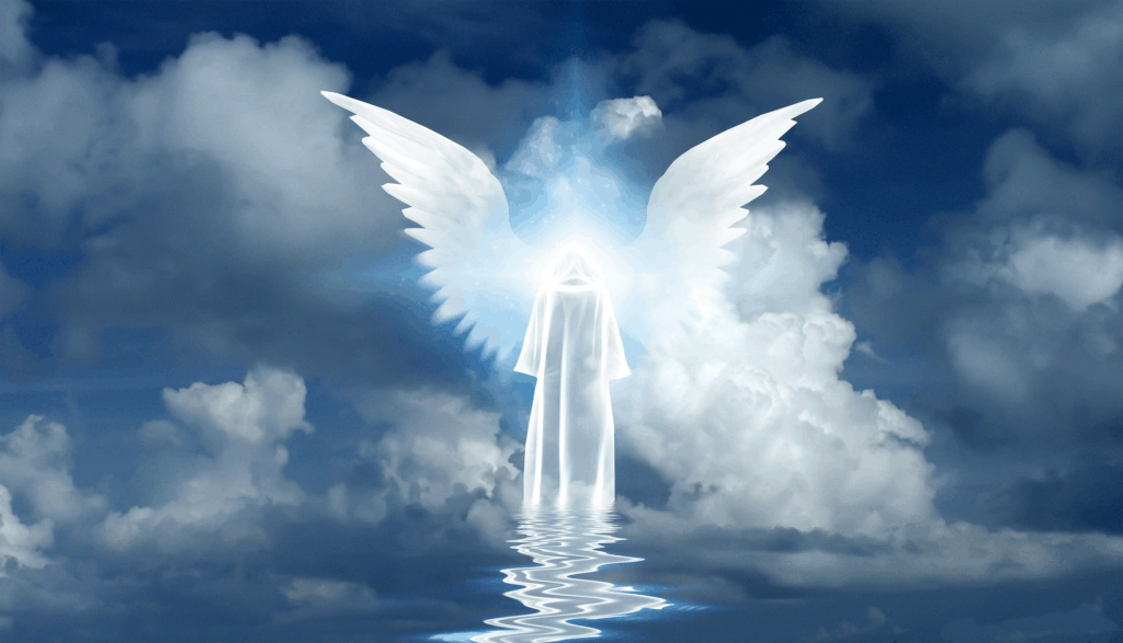 202 Angel Number Twin Flame Explained , An Angel Flying Above Water